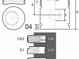 Piston si segmenti tractor Fiat 23/32-231