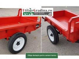 Remorca basculabila 1 tona pentru motocultor/tractor/tractor