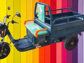 Triciclu Electric - Tuk Tuk - camionetă 290x100 cm Verde