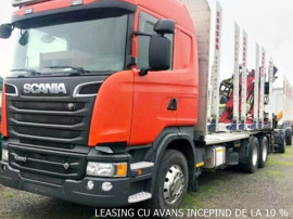Camion forestier Scania R-560 arcuri fier+leasing de la 10%