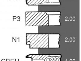 Set segmenti fendt f285200310100 , f311200310010