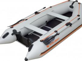 Barca Kolibri KM 330-D grii cu podina aluminiu garantie 5 an