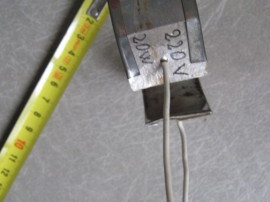 Rezistenta incalzire teava, cilindru. diam 70mm. 220V, 20W