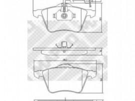 Set placute frana,frana disc Volkswagen Transporter T4 (1...