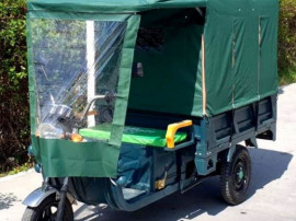 Triciclu electric - tuk tuk - camioneta move eco verde