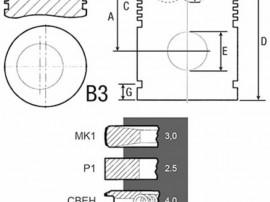 Piston si segmenti tractor 23/32-262