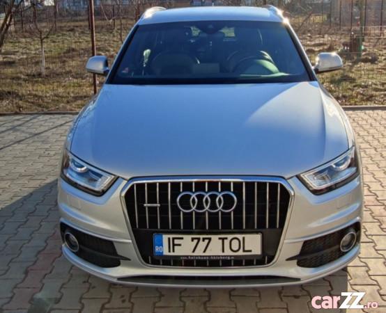 """Audi Q3 Quattro S-tronic 177 CP Audi Q3 Quattro S-tronic 177 CP 2014  adusă recent din Germania, se pot verifica accidentele și km mașinii (apăsând butonul """"Verifică""""), cutie de viteză Automata, Euro 5. Oferit de Persoană fizică."""