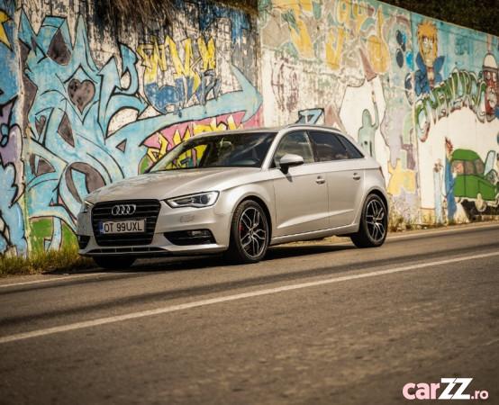 """Audi A3 Sportback - 2.0 TDI / DRL LED / Bi-Xenon / Navi Mare Audi A3 Sportback - 2.0 TDI / DRL LED / Bi-Xenon / Navi Mare 2013  adusă recent din Germania, se pot verifica accidentele și km mașinii (apăsând butonul """"Verifică""""), cutie de viteză Manuala, Euro 5. Oferit de Persoană fizică."""